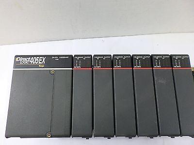 Used Plc Direct Logic Koyo 405ex D4-08ta Power Supply W D4-08ta Output Modules