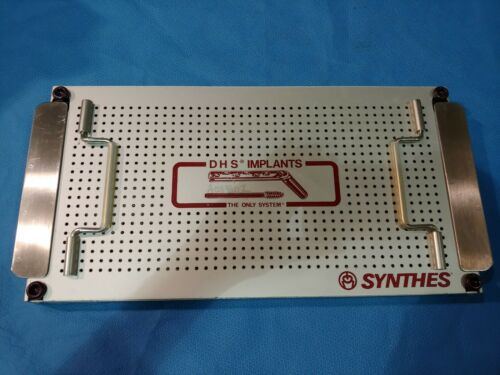 Synthes DHS Bone Forceps Surgical OR Case Sterilization Tray Only Empty