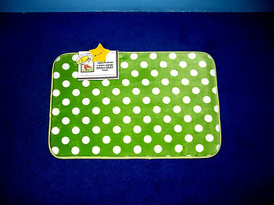 New Home Polka Dot Rug (LUXURY AT HOME LIME GREEN POLKA DOT FOAM CUSHIONED BATH RUG BATH MAT 17 X 24)