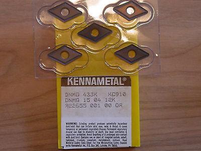 5 Pcs. Dnmg 433k  Kennametal Kc910 Carbide Inserts 1 Box Of 5