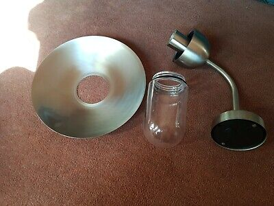 New unused Stainless steel outside wall lights x2