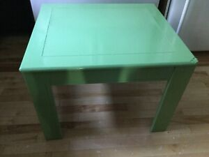 Green misfit square coffee table- available
