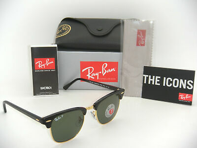 Authentic Ray Ban Classic-ORB3016/901/58-51mm CLUBMASTER-Polarized-For (Polarized Sunglasses For Men Ray Ban)