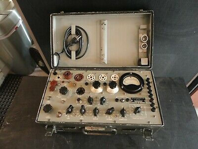 Tv-7u Military Tube Tester Built By Supreme Shown Testing Tubes