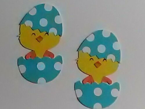 2 chick in egg diecut scrapbooking greeting card diecuts NO METAL