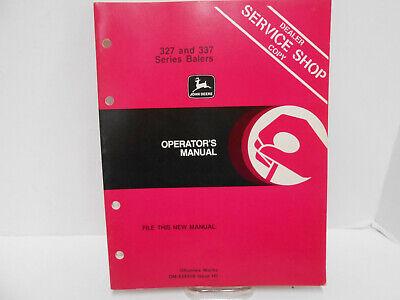 Genuine John Deere 327337 Hay Baler Operators Manual Used
