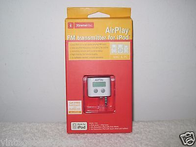 (XtremeMac AirPlay FM Transmitter for iPod  New In Package)
