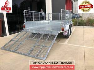 10x6 Tandem Trailer Galvanised with 1.5m Ramp 600mm cage 2000kg Shepparton Shepparton City Preview