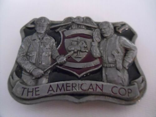 Vintage The American Cop Buckles of America Enamel Belt Buckle