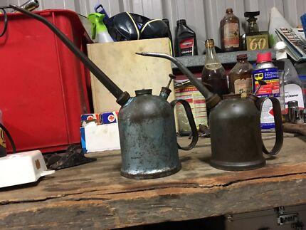 Vintage rega oil can applicators x 2