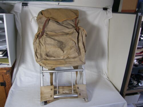 Vintage Boy Scouts America Khaki Backpack No.1329 Deluxe Yucca W/ Aluminum Frame