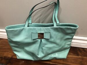 Pre loved Kate Spade Tiffany blue patent leather purse