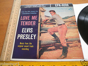 1956-Elvis-Presley-RCA-Records-EPA-4006-45-RPM-VG-NM-PS-Love-Me-Tender