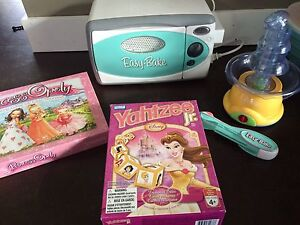 Easy Bake Oven, chocolate Fountain & games