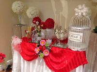 Chair covers ** Tablecloth** Backdrop Rentals