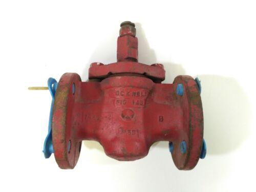 """Rockwell Figure 143 1-1/2"""" Flanged Plug Valve"""