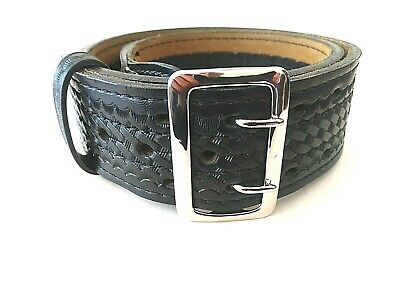 Safariland 87v 32 Sam Browne Style 2 14 Bw Duty Belt Wsilver Finished Buckle