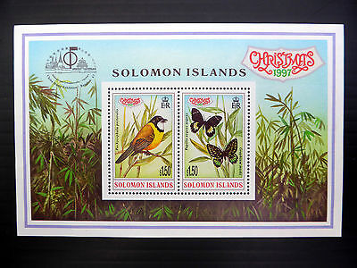 SOLOMON ISLANDS Wholesale 1997 Xmas Bangkok M/Sheet x 50 NEW LOWER PRICE FP1094