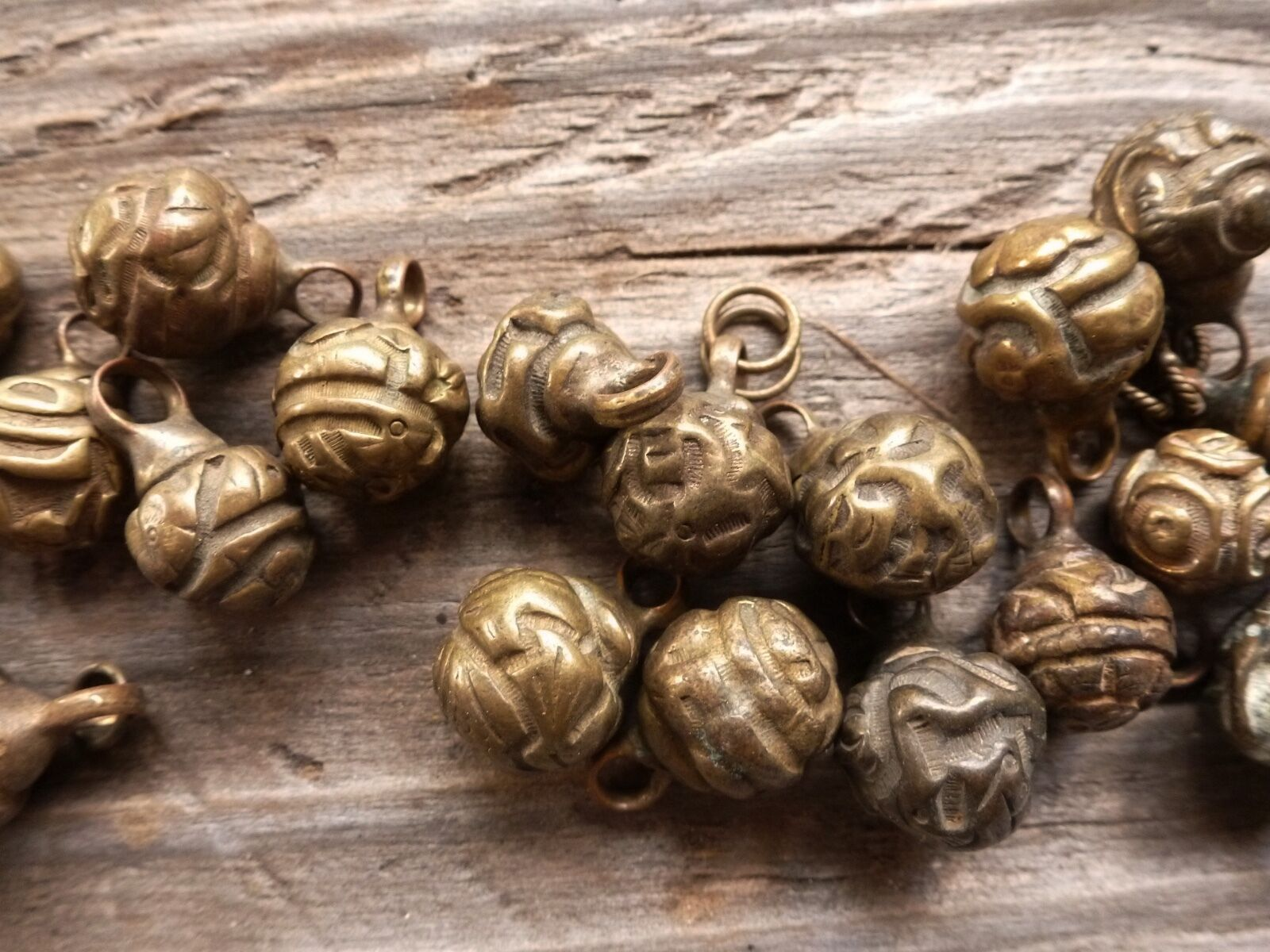(B) Antique Chinese Ch'ing Qing Brass Robe Buttons ~ For ONE Button
