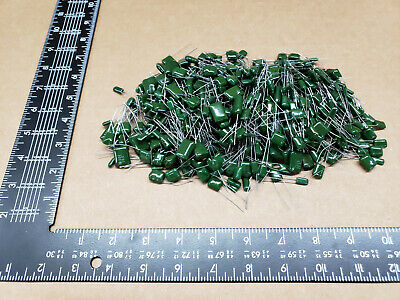 500 Pcs Chicklet Greenie Capacitor - Grab Bag Assorted Values And Voltage
