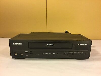 Sylvania 6240VE 4-Head VHS VCR Player -TESTED & WORKS GREAT-