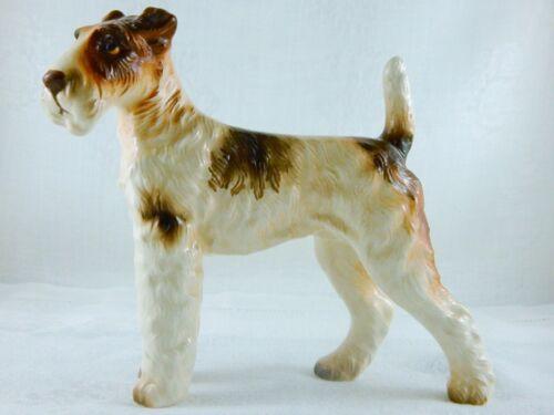 DOG FIGURINE WIRED HAIR TERRIER VINTAGE JAPAN