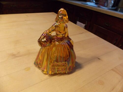 Vintage Wheaton Iridescent Carnival Glass Colonial  Lady Figurine