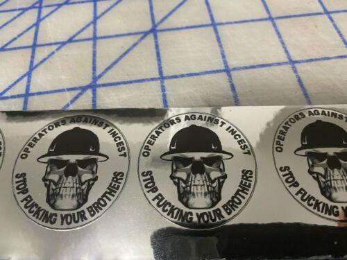 (4) Funny Crane Operator  Hard Hat, Welding Helmet, Stickers Construction Decal