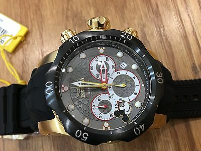 23165 Invicta Disney  52Mm Venom Sea Dragon Limited Edition Quartz Chrono Watch