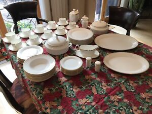 Royal Doulton 71 piece China set - Gold Concord