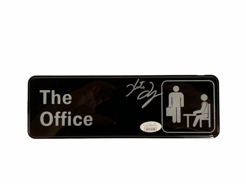 Kate Flannery Autograph The Office Wall Plaque 9x3 Plate Meredith Signed JSA COA
