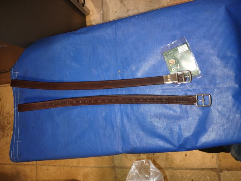 Marcel Toulouse Covered Stirrup Leathers 1x48 in Chocolate Color