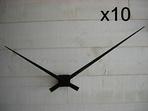 x10 mecanisme horloge quartz grandes aiguilles g antes geante xxl 33 45cm diy ebay. Black Bedroom Furniture Sets. Home Design Ideas