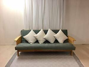 Futon Sofa Bed Solid Timber Albion Brisbane North East Preview