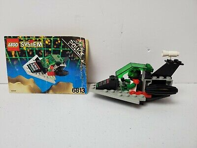 Lego System 6813 Space Police Galactic Chief & Assembly Instructions Vintage