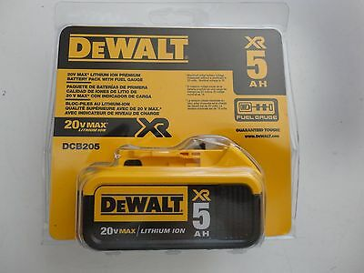 DEWALT DCB205 20V 20 Volt MAX Lithium Ion 5.0 AH Battery Pack New DCB205B NIP