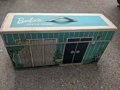 Vntg 1962 BARBIE DREAM HOUSE Home Mattel Cardboard Doll Playset w/ Furniture