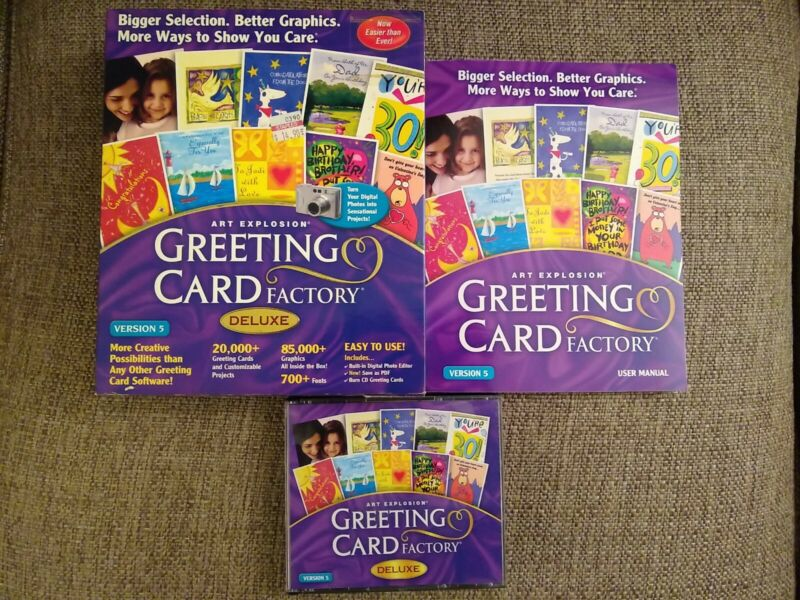 Art Explosion Greeting Card Factory Deluxe Version 5 - CD ROM