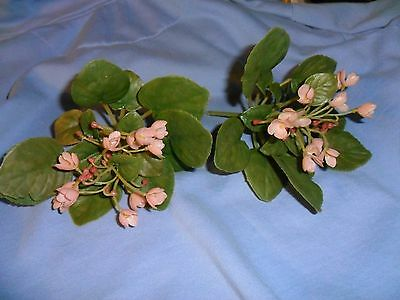 2 Vintage Plastic Violet Plants-Pink (Pink Plastic Plant)