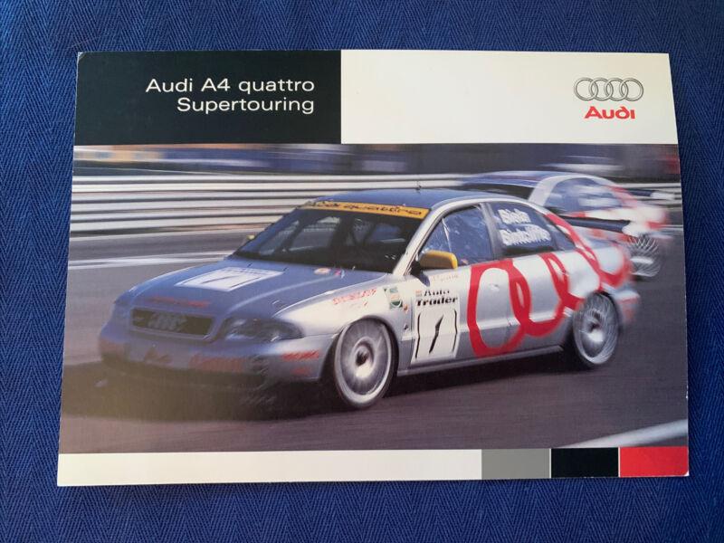 Audi A4 Quattro Super Touring Brochure Excellent Original Not Reproduced