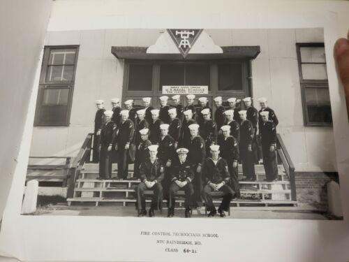 Vtg. 1966 11x14 Photo - US NAVY Fire Control Technicians School w/signatures