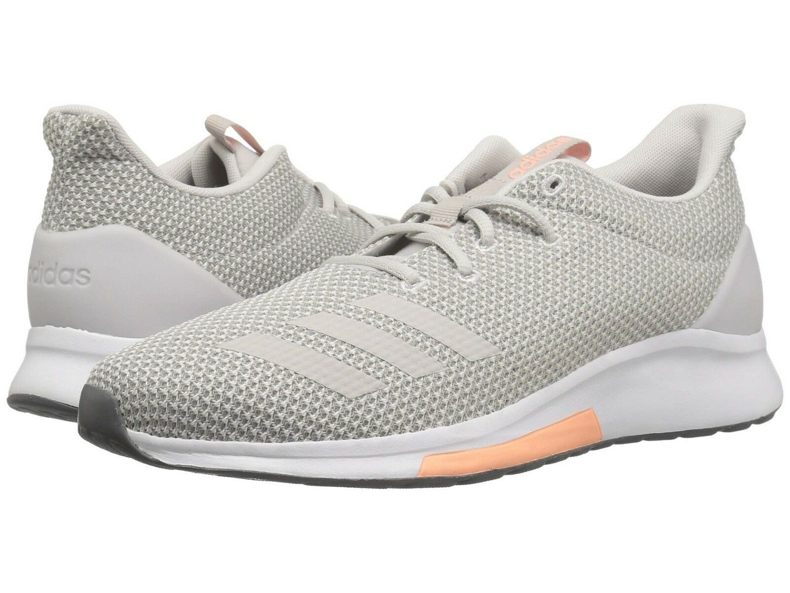 Women Adidas Puremotion Running Shoe B96547 Grey/Grey/Clear Orange Brand New