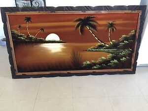 Tropical picture frame art