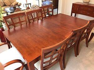 8 CHAIR DINING TABLE WITH MATCHING MIRROR AND CONSOLE SET Taren Point Sutherland Area Preview