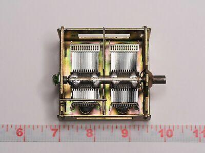2 Section Air Variable Tuning Capacitor 24-990 Pf Tube Am Radio Rare S250
