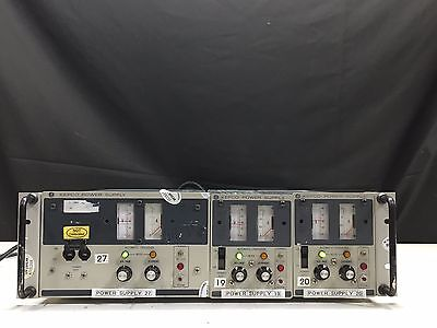 Kepco Ate 75-3m 0-75v 0-3a Power Supply With 2x  Ate 75-1.5m 0-75 Vdc 0-1.5 A