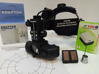 Rechargable Wireless Indirect Ophthalmoscope With Carry Bag Accessories