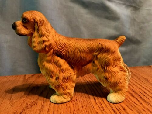 Vintage Cocker Spaniel Dog Figurine Tan / Blonde