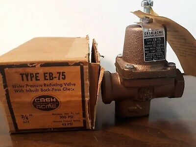 Cash Acme 15702 Eb-75 34 Water Pressure Reducing Valve