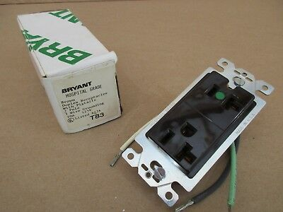 Bryant 20 Amp T83 Duplex Receptacle Hospital Grade with Pigtails ()